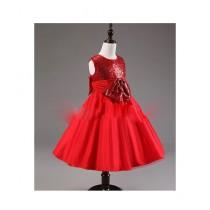 FashionValley Elegant Champagne Designer Frock For Baby Girl (0095)