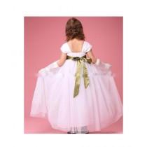 FashionValley Elegant Champagne Designer Frock For Baby Girl (0096)