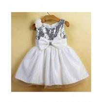 FashionValley Elegant Champagne Designer Frock For Baby Girl (0099)
