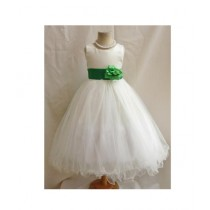 FashionValley Flower Party Frock For Baby Girl (0104)