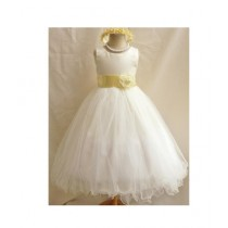 FashionValley Flower Party Frock For Baby Girl (0106)