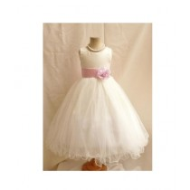 FashionValley Flower Party Frock For Baby Girl (0107)
