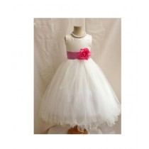 FashionValley Flower Party Frock For Baby Girl (0108)