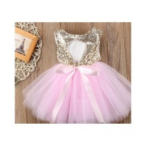 FashionValley Sequined Princess Dress For Girls (0028)