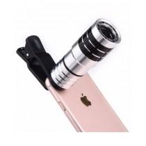 Ferozi Traders 12X Metal Mobile Clip Lens - Silver