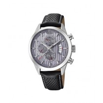 Festina Chronograph Men's Leather Strap Watch Black (F20271/3)