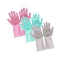 G Mart Magic Reusable Silicone Gloves Multicolor