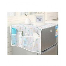 G-Mart Printed Fridge Cover With 6 Pockets