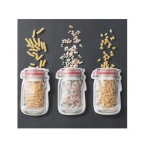 G-Mart Reusable Jar Design Ziplock Bag - Pack of 3