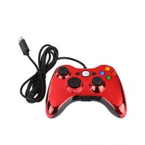 Gamerz Vault Wired Controller For PC & Xbox 360 Crystal Red