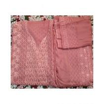 Ghauri G Pure Shiffon Suit 3 Piece For Women Pink
