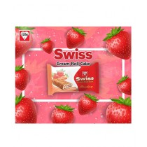 Gibs Swiss Strawberry Cream Roll Cake - 12 Piece