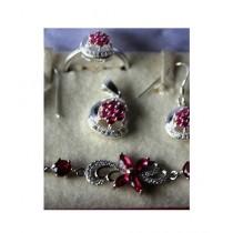 Gilgit Bazaa Rubylite Stone Jewelry Set (GB354)