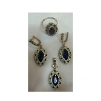 Gilgit Bazaa Sapphire Stone Jewelry Set (GB93)