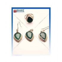 Gilgit Bazar Agate Stone Jewelry Set (GB1222)