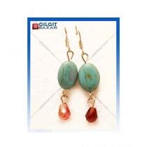 Gilgit Bazar Feroza Earring For Women's Green (GB1055)