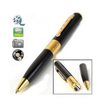 Glow PK HD Video Recorder Pen Black & Golden