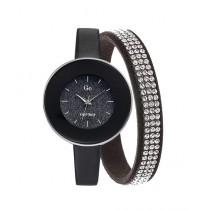 Go Girl Only Glitter Dial Bangle Women's Watch Black (698560)