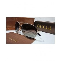 Gucci Gold Metal Sunglasses For Unisex