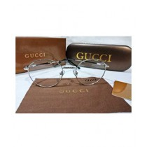 Gucci Silver Metal Sunglasses For Unisex