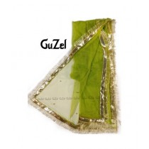 Guzel Dupatta with Gotta Ribbon Apple Green (GNetgp-015)