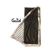 Guzel Dupatta with Gotta Ribbon Black (Netbls008)