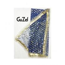 Guzel Dupatta with Gotta Ribbon Blue (GNetgpd-004)