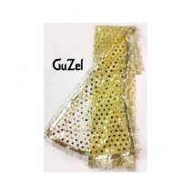 Guzel Dupatta with Gotta Ribbon Lemon Yellow (GNetgpd-003)