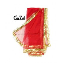 Guzel Dupatta with Gotta Ribbon Magenta (GNmgp-014)