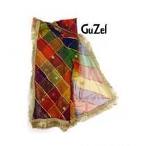 Guzel Dupatta with Kiran Lace Multicolor (GNmld-017)