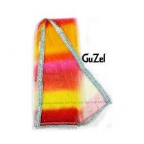 Guzel Dupatta with Sequence Lace Multicolor (GNmcp-012)