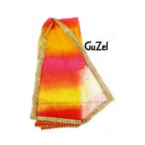 Guzel Dupatta with Sequence Lace Multicolor (GNmgp-013)