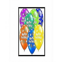 H-Shopping Happy Birthday Balloons Multicolor Pack Of 25