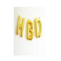 H-Shopping HBD Golden Foil Balloons