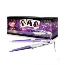 Carmen True Colours Hair Styler Straightener Curling Iron 3-in-1 (Purple)