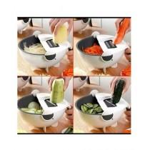 Hakimi Steel Vegetable Cutter/Slicer & Drainer