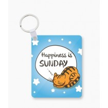 The Warehouse Happiness Is Sunday Art Printed Key Chain (KC-155)