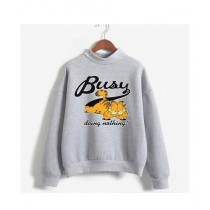 He & She Busy Doing Nothing Sweat Shirt For Unisex Grey (0029)