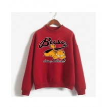 He & She Busy Doing Nothing Sweat Shirt For Unisex Red (0031)