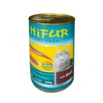 Hifur Canned Cat Food Beef Flavor 400g