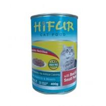 Hifur Canned Cat Food Beef & Peas Flavor 400g