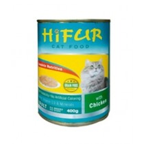 Hifur Canned Cat Food Chicken Flavor 400g