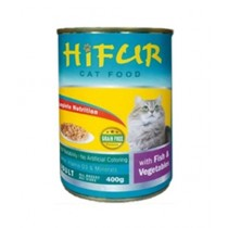 Hifur Canned Cat Food Fish & Vegetables Flavor 400g