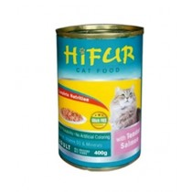 Hifur Canned Cat Food Salmon Flavor 400g