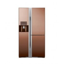 Hitachi Side-By-Side Refrigerator Mirror Brown 21 cu ft (R-M810GP2PBX)