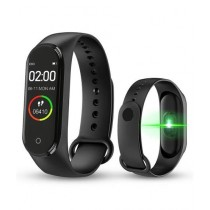 Hmm Store M4 Smart Band With Heart Rate Sensor Black (0082)