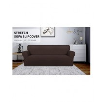 Home N You 3 Seater L Shape Stretch Sofa Cover With Soft Couch Chocolate