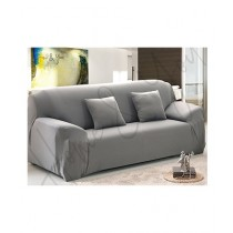 Home N You 3 Seater L Shape Stretch Sofa Cover With Soft Couch Light Gray