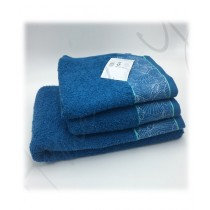 Home N You Fade Resistant Bath Towel Navy Blue Pack Of 3