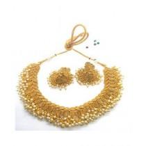 Hoorya Collection Cyrstal Gold Metal Jewelry Set (0020)